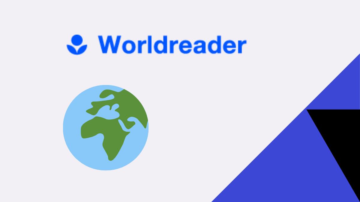 Worldreader blog graphic header