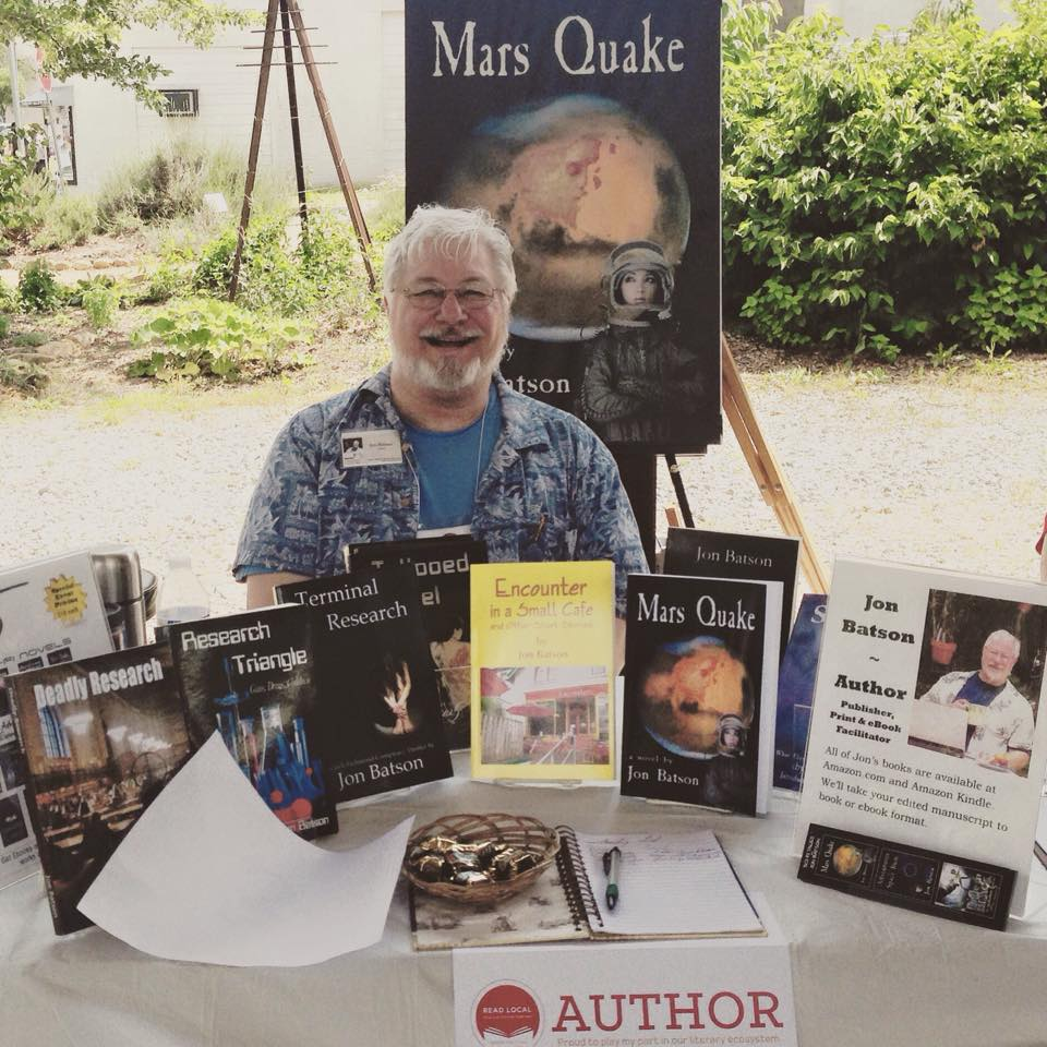 Lulu author Jon Batson at the Read Local Book Festival