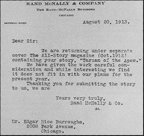 Even Tarzan's author got rejected!