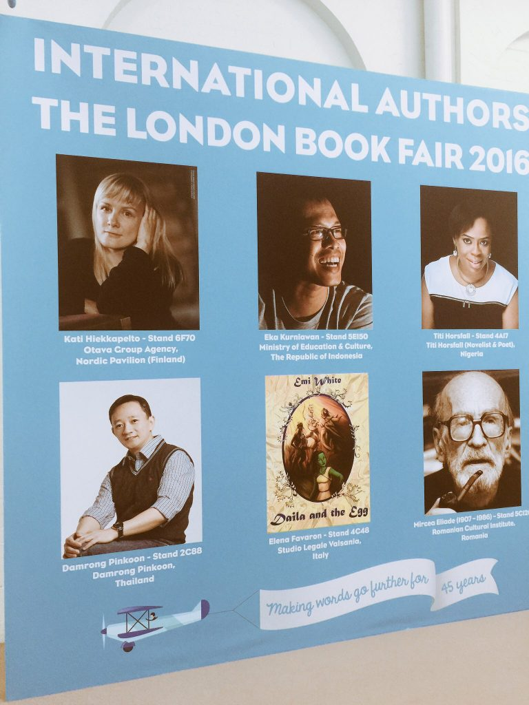 2016 London Book Fair Wall art promoting the book fair