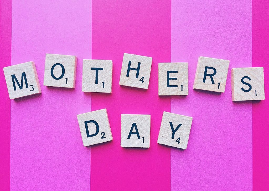 Mother's Day image with Scrabble tiles
