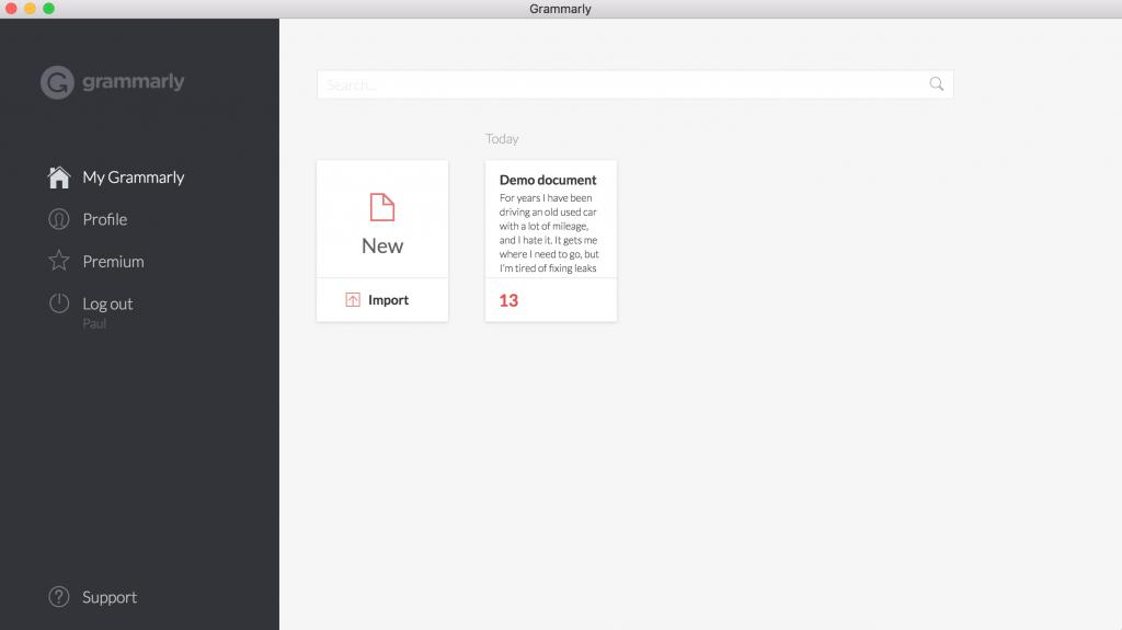 Grammarly Mac App