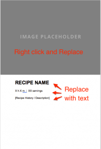 Cookbook Template Page One