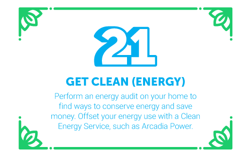 30 Ways in 30 Days #21 - Get clean (energy)