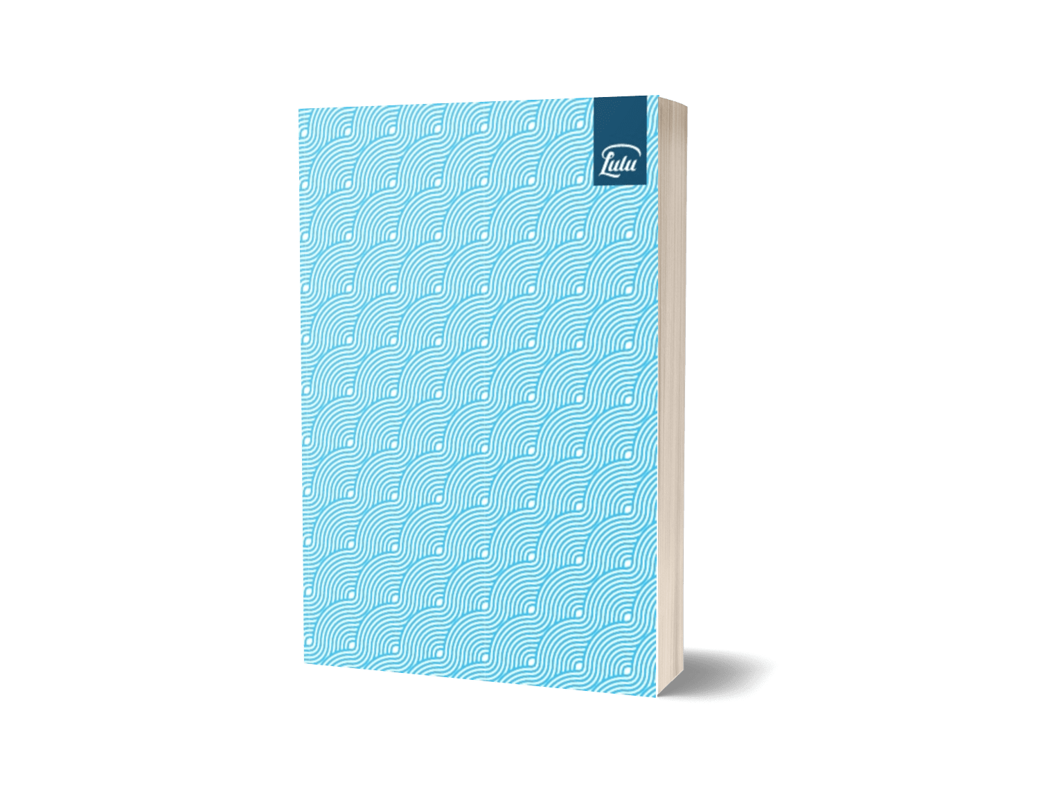 Inspiration Strikes Notebook - Lulu.com Aquamarine Blank Notebook