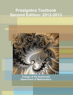 Prealgebra Textbook Second Edition: 2012-2013