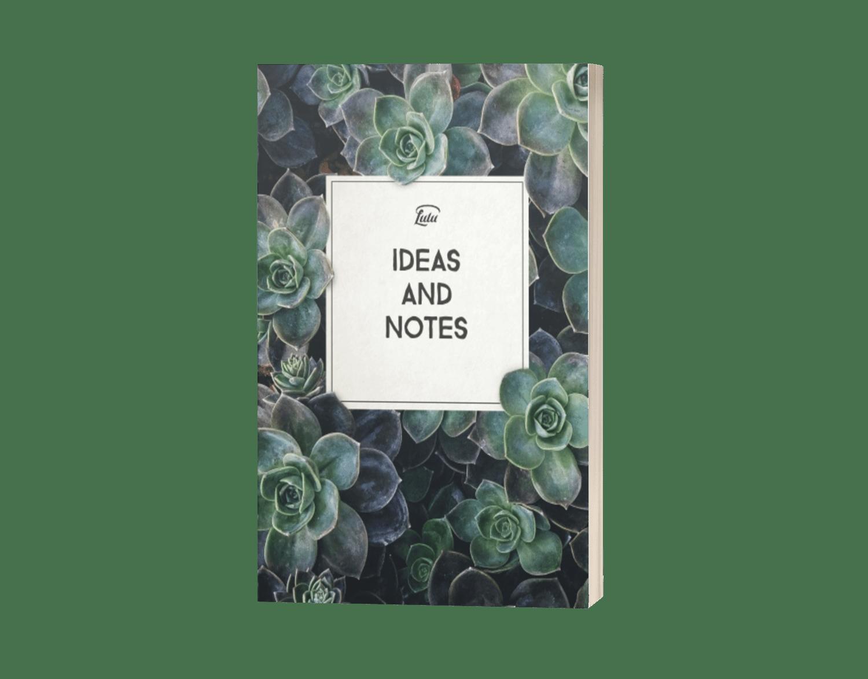 Inspiration Strikes Notebook - Lulu.com Succulent Ideas Blank Notebook