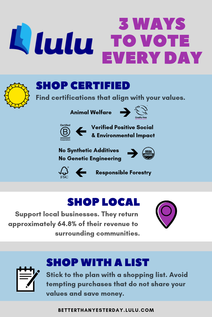 Three Ways To Vote Every Day Infographic