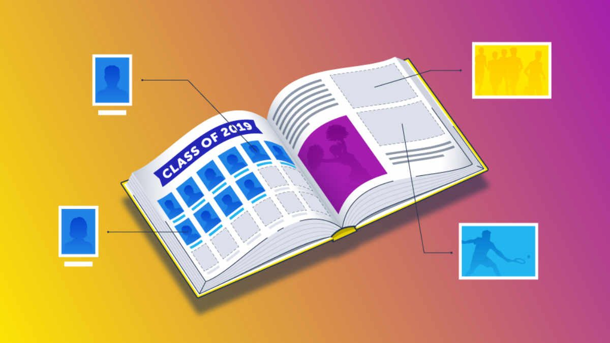Print-on-demand yearbook blog graphic