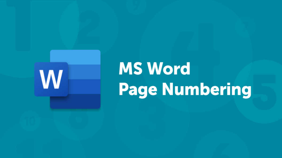 MS Word Page Numbering Blog Header