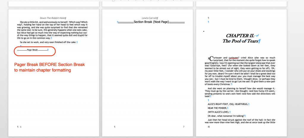 Adding a Page Break to create a blank page