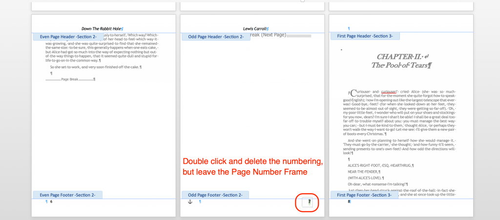 Delete a Page Number without removing the page numbering