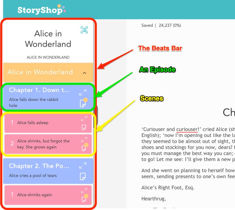 Story Shop Writer in App Beats Bar breakdown