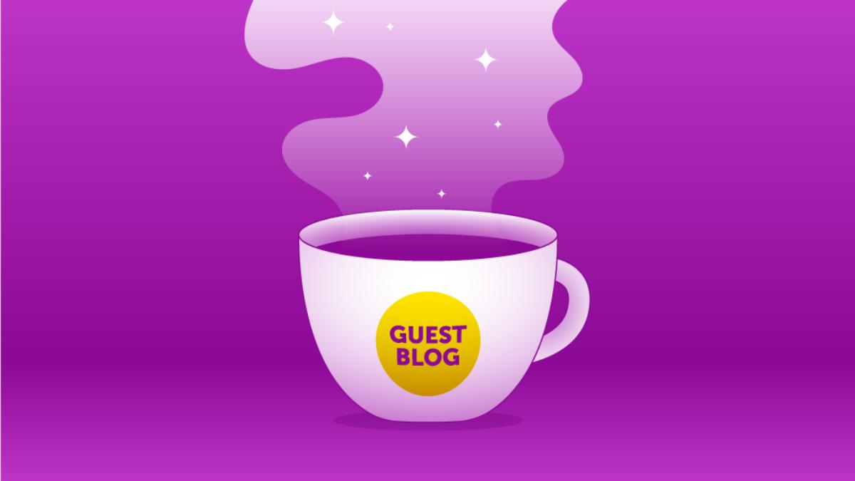 Guest Blogger Header Graphic Magenta