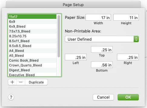 Word Creating Print Ready PDF Custom Page Sizes