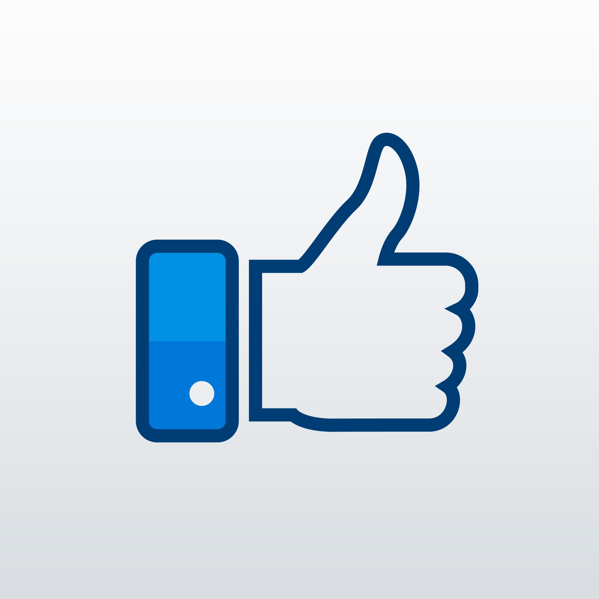 Facebook 'like' thumbs up image