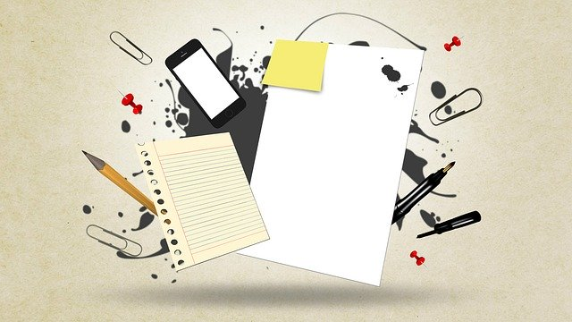 Illustration of writing materials