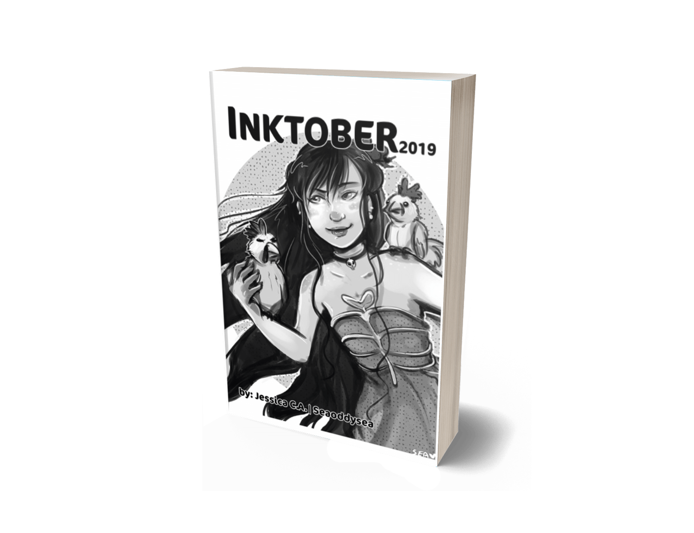 INKTOBER 2019 Book Cover Lulu Bookstore