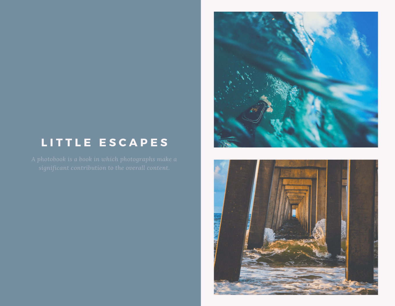 Little Escapes Photo Book template from Canva